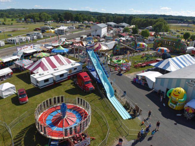 Boonville Oneida County Fair Aerial View